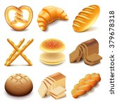 bread and bakery icons detailed ... | Shutterstock .eps vector #379678318