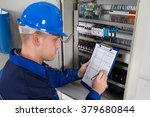 young male technician holding... | Shutterstock . vector #379680844