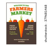farmers market poster template... | Shutterstock .eps vector #379681468