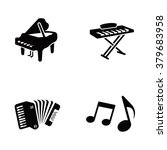 Piano Vector Icons