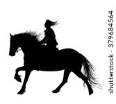 a horse rider isolated...   Shutterstock .eps vector #379684564