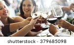 brunch choice crowd dining food ... | Shutterstock . vector #379685098