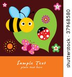 bee greeting card | Shutterstock .eps vector #37968580