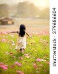 Little Girl Running In The...
