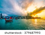 Victoria Harbour Of Hong Kong...