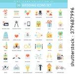 vector wedding color flat icon...