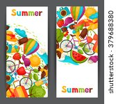 banners with stylized summer... | Shutterstock .eps vector #379688380