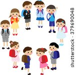 elementary school students  | Shutterstock . vector #379690048