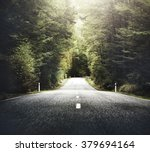 Autumn Themed Country Road Wit...