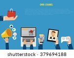 omni channel concept for... | Shutterstock .eps vector #379694188
