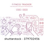 fitness tracker with pedometer... | Shutterstock .eps vector #379702456
