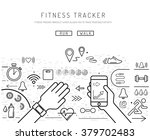 fitness tracker with pedometer... | Shutterstock .eps vector #379702483