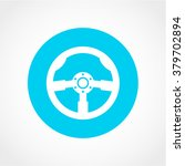 steering wheel icon isolated on ...