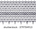 set of isolated knitted lace... | Shutterstock .eps vector #379704913