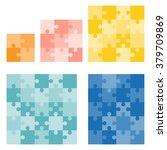 jigsaws puzzle vector in... | Shutterstock .eps vector #379709869