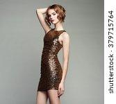 fashion portrait of elegant... | Shutterstock . vector #379715764