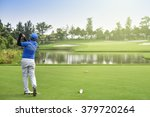golfers hit sweeping golf... | Shutterstock . vector #379720264