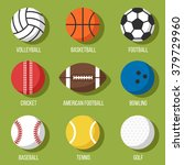 colorful vector set of sport... | Shutterstock .eps vector #379729960
