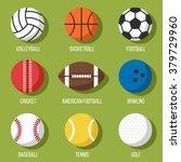 colorful vector set of sport... | Shutterstock .eps vector #379729960