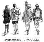 strolling students | Shutterstock . vector #379730668