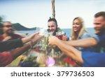 beach summer dinner party...   Shutterstock . vector #379736503