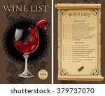 wine list with old parchment ... | Shutterstock .eps vector #379737070