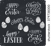hand written easter phrases.... | Shutterstock .eps vector #379738300