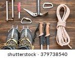 climbing equipment  rope ... | Shutterstock . vector #379738540