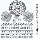 hand drawn vector tribal...   Shutterstock .eps vector #379745344