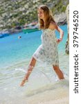 summer vacation  portrait of... | Shutterstock . vector #379746520
