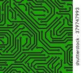 seamless printed circuit board   Shutterstock .eps vector #379747993
