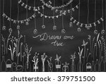 set of hand drawn borders... | Shutterstock .eps vector #379751500