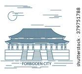 forbidden city. gate of... | Shutterstock .eps vector #379751788