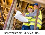 handsome  architect with... | Shutterstock . vector #379751860