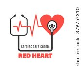 single medical logo with red... | Shutterstock .eps vector #379752310