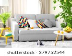 living room interior with sofa  ... | Shutterstock . vector #379752544