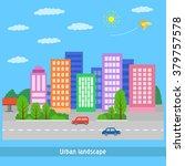 urban landscape | Shutterstock .eps vector #379757578