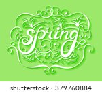 spring handwriting ornament on... | Shutterstock .eps vector #379760884