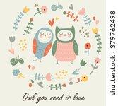 Cute Loving Owls. 'owl You Nee...
