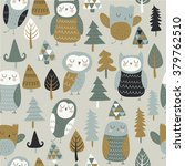 vector seamless background with ... | Shutterstock .eps vector #379762510