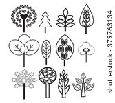 vector collection of plants and ... | Shutterstock .eps vector #379763134