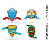 set of 4 badges which consist... | Shutterstock .eps vector #379765888