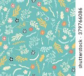 seamless floral pattern on... | Shutterstock .eps vector #379766086