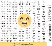 smiley creator cute emoji faces | Shutterstock .eps vector #379770454