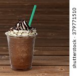 Frappuccino In Takeaway Cup On...