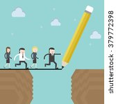 draw the line to success. flat... | Shutterstock .eps vector #379772398