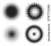 abstract set of half tone... | Shutterstock .eps vector #379772590