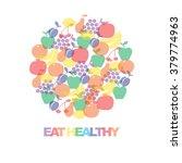 eat healthy   motivational... | Shutterstock .eps vector #379774963
