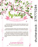 Vector Spring Background. Pink...