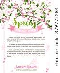 Vector Spring Background. Pink...